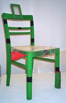 Stuhlobjekt grün
