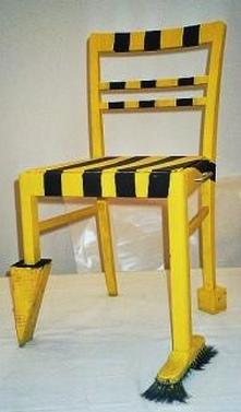 Stuhlobjekt gelb