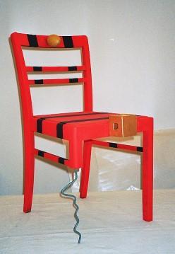 Stuhlobjekt rot