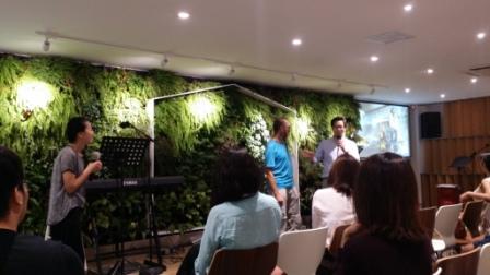 CN: David in a Church in Beijing (Photo: Nathan)