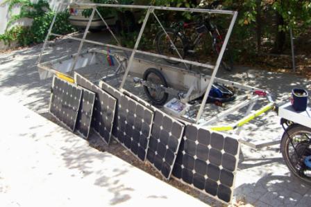 Solatrike abmontierte Solarpanels