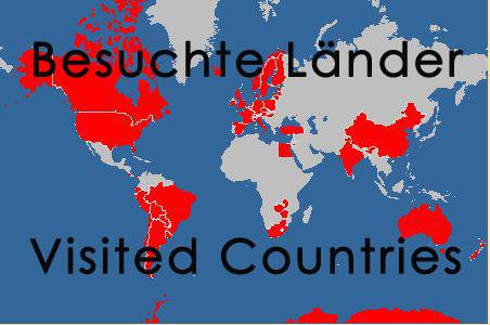 Besuchte Länder / Visited countries