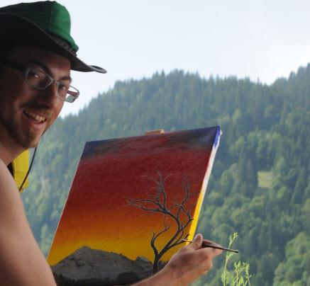 Beim malen / painting