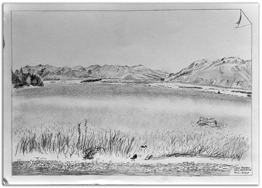 Sketch at Lake Tekapo