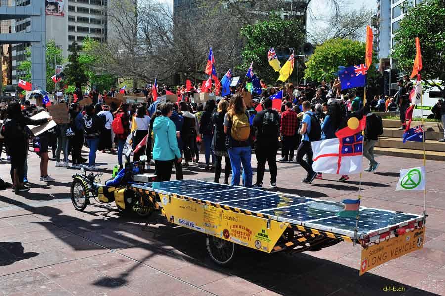 Solatrike am Schulstreik für das Klima