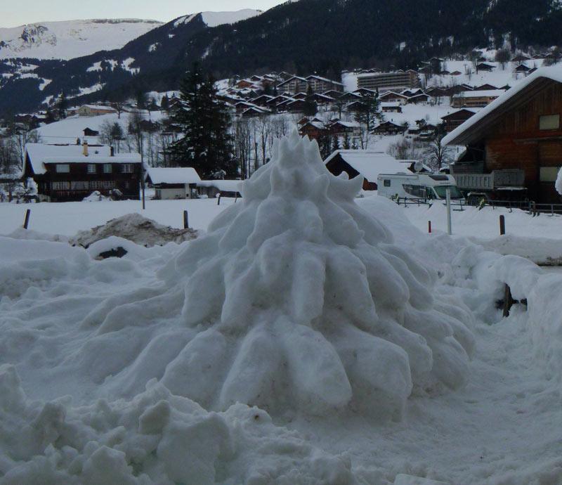 Christmas tree of snow