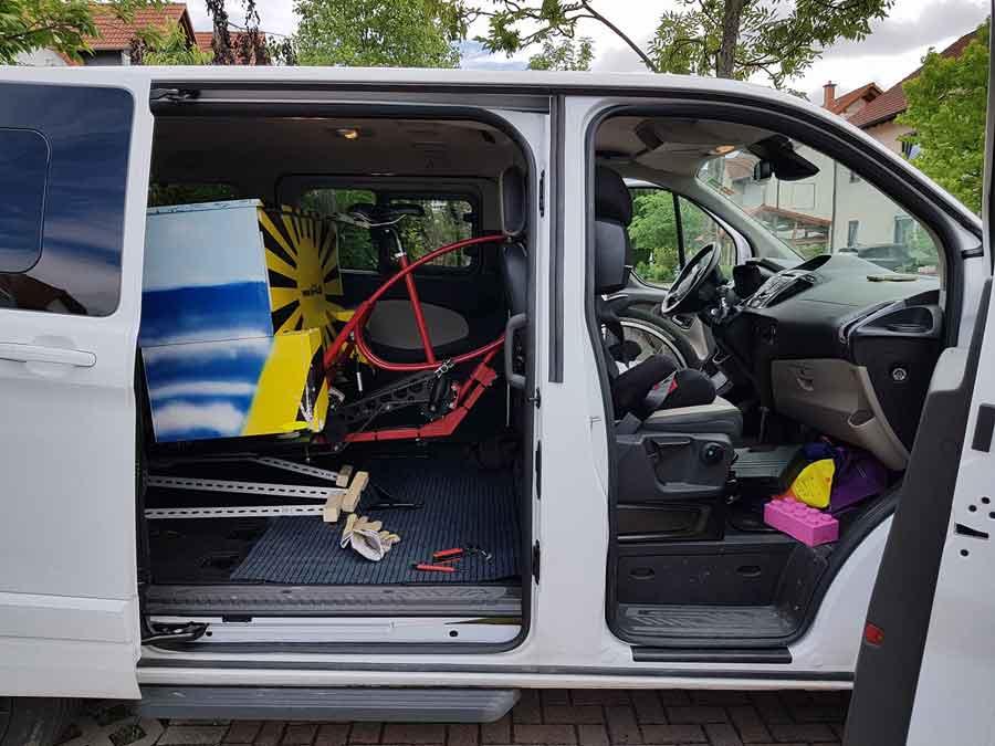 Trike verkauft und verladen (Foto: Robert)