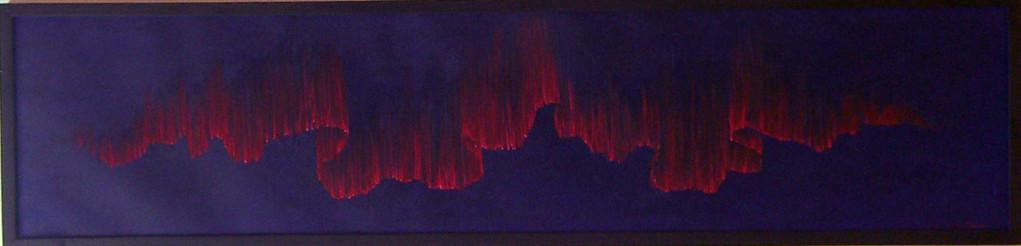 """""""Red aurora"""" (Rotes Nordlicht)"""