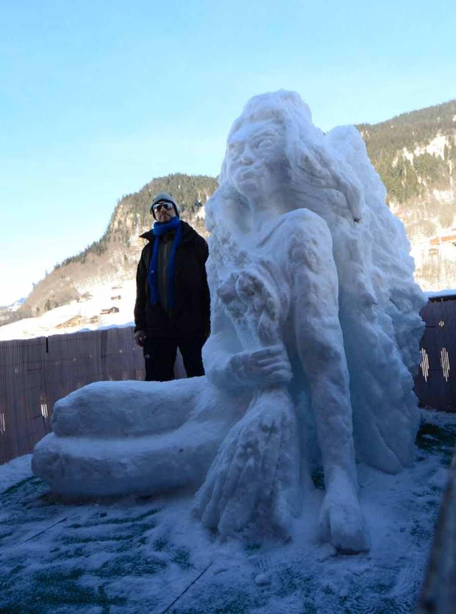 Schnee-Engel 2013 Grössenvergleich / Snow-Angel 2013 Size comparison