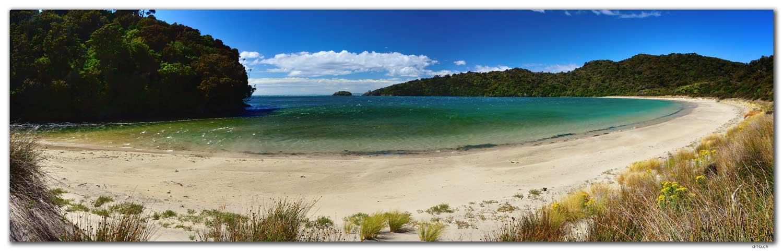 Stewart Island.Rakiura Track.Maori Beach