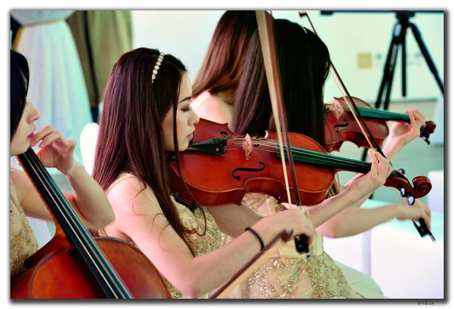 Shenzhen.Klassische Musik in der Kunstgalerie