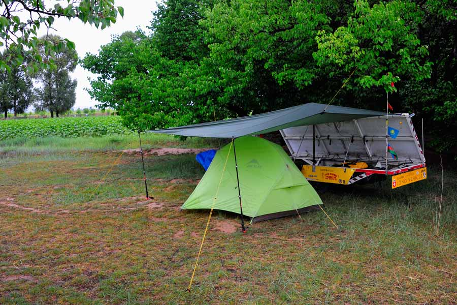 Solatrike Camp in the rain