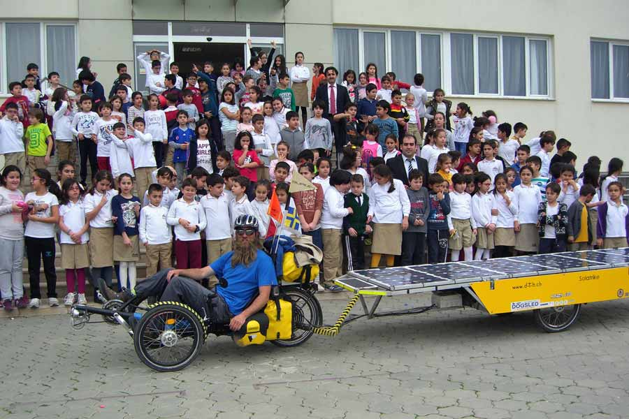 Solatrike II at School in Nazilli, Turkey