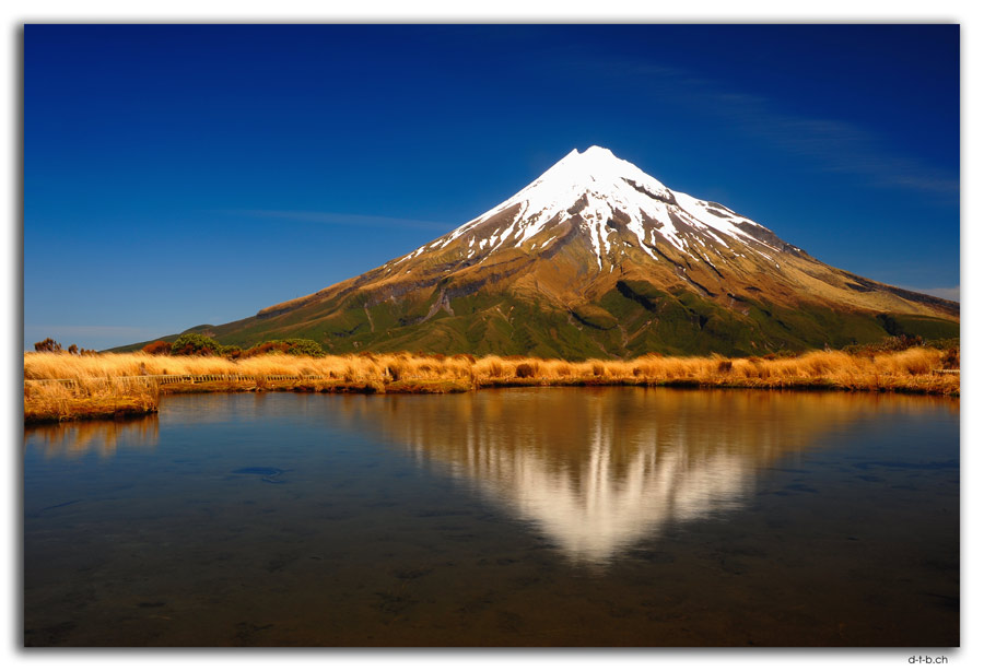 Egmont N.P.Mt.Taranaki reflection in Pouakai Tarn