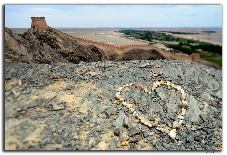 Überhängende Grosse Mauer