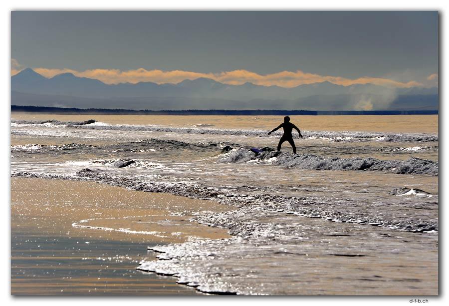 New Brighton Beach.Surfer