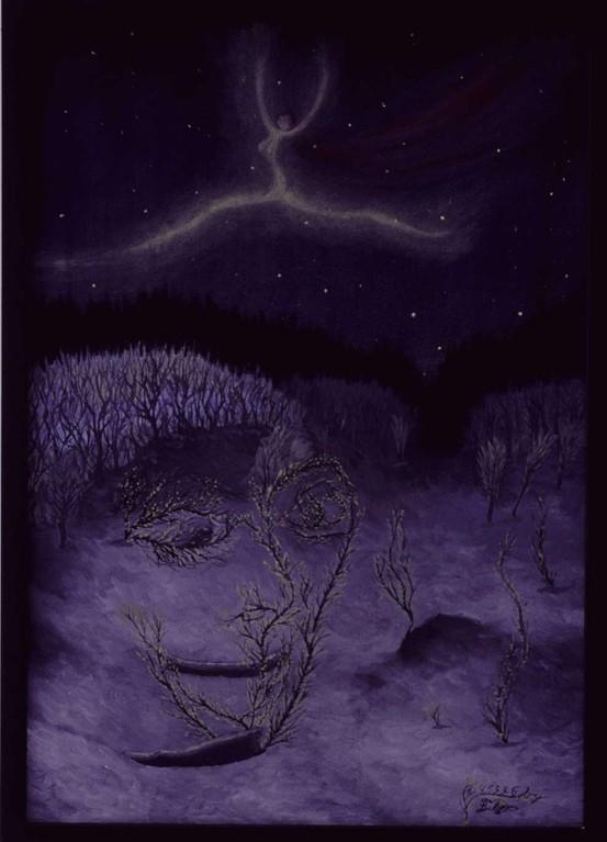 """""""Troll, älva och aurora"""" (Troll, Elfe und Aurora)"""