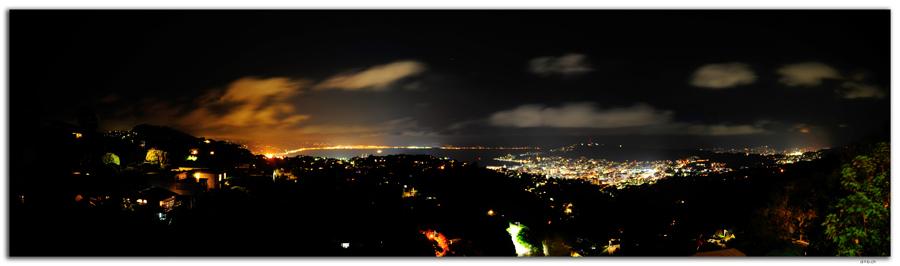 NZ0469.Wellington panorama by night