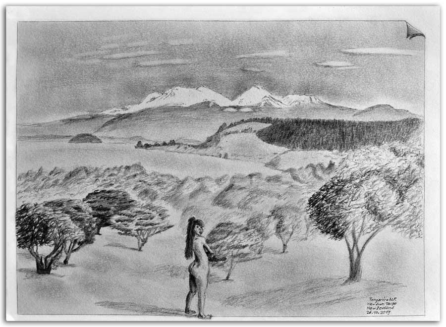 Sketch from Tongariro N.P
