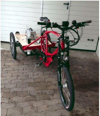 Trike - Lieferzustand.  Trike -  delivered. (Foto: C. L.)