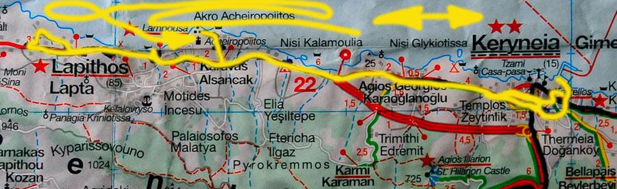 Tag 150: Girne - Lampousa (Suche) - Girne Hafen