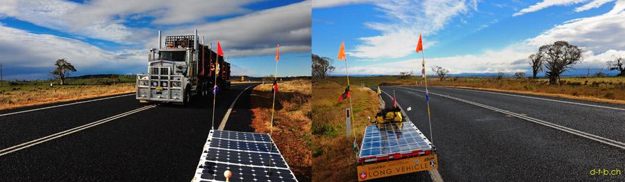 AU: Solatrike auf dem Monaro Highway