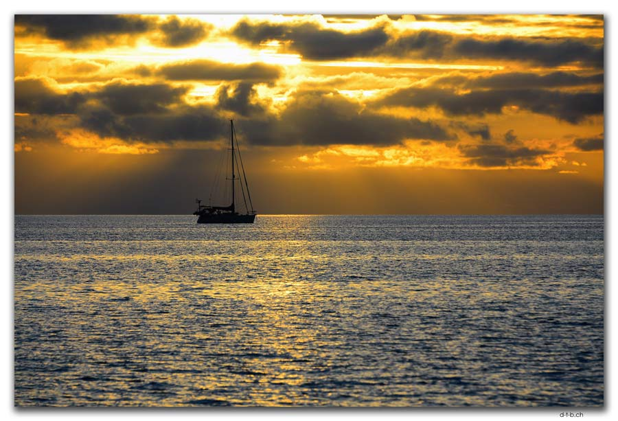 Vatia Beach Sonnenuntergang