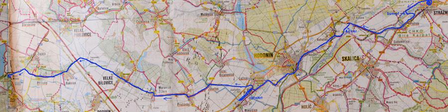 Karte Tag2: Straznice - Nove Mlyny