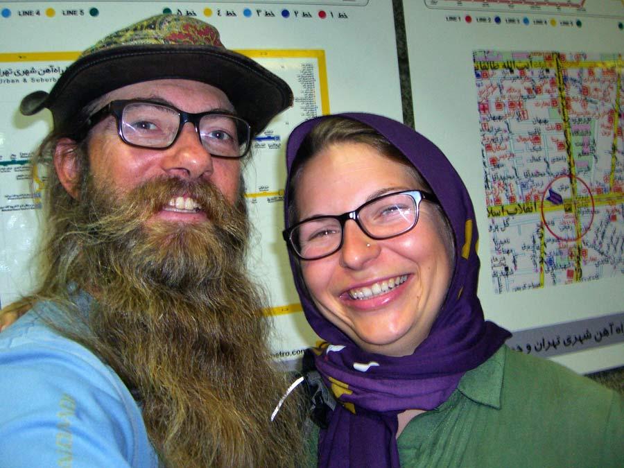 Teheran mit Verena