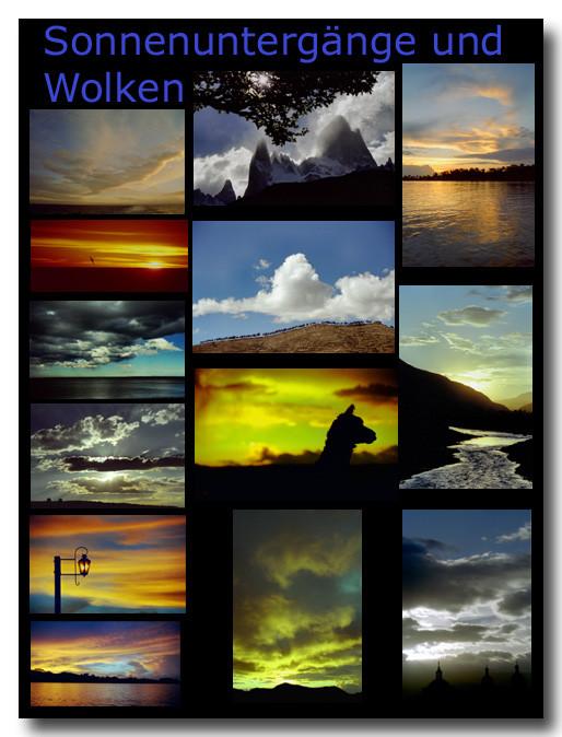 Sonnenuntergänge und Wolken / Sunsets and clouds
