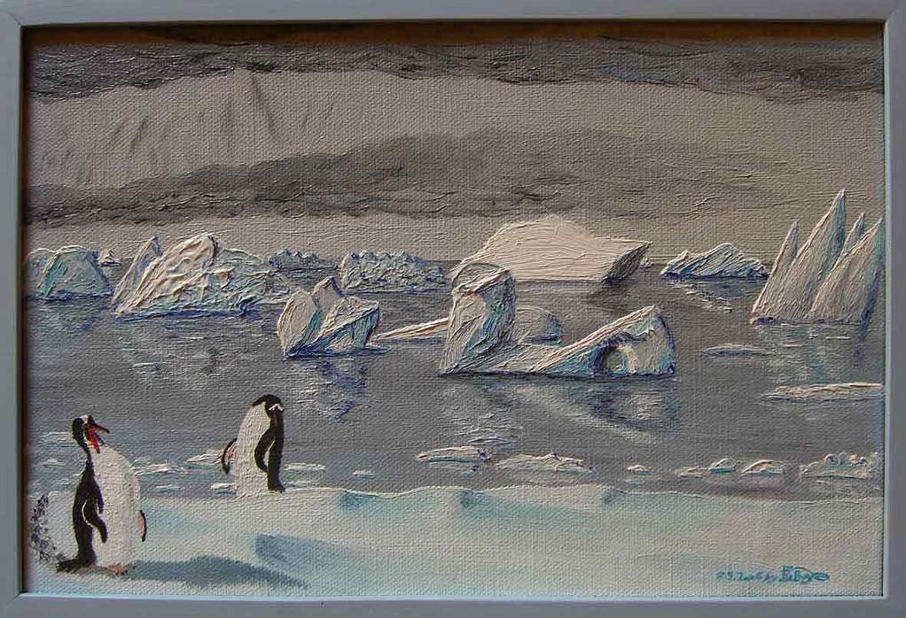 """Gentoos & Icebergs Cuverville Island Antarctica"" (Eselspinguine und Eisberge, Cuverville Island Antarktis)"