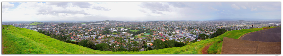NZ0020.Auckland.Panoramic view from Mt.Eden