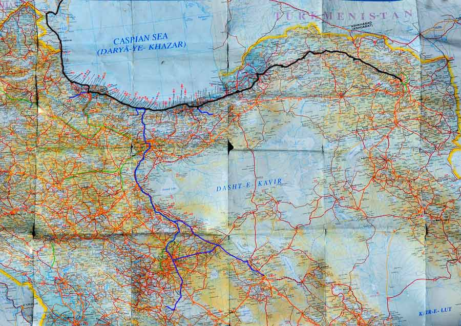 Strecke / Tour Iran