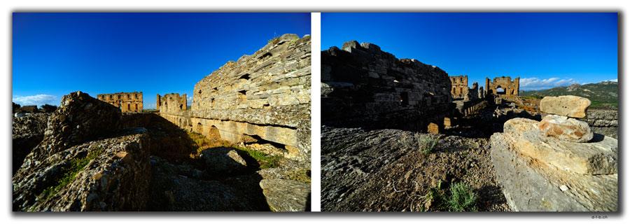 TR0422.Aspendos.Nymphaeum + Basilika