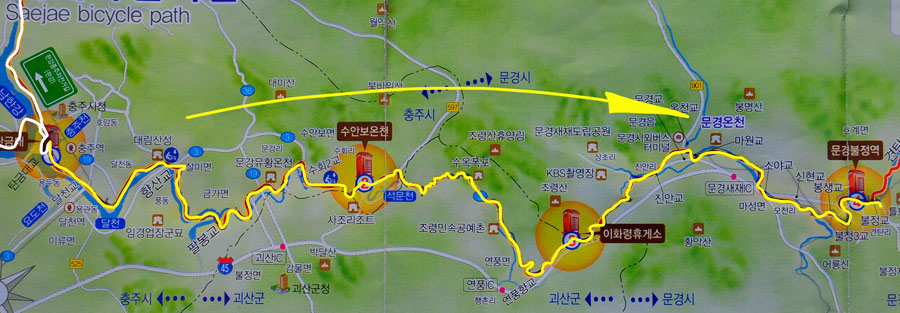 Tag 275: Chungju - Mungyeong (Kroki)