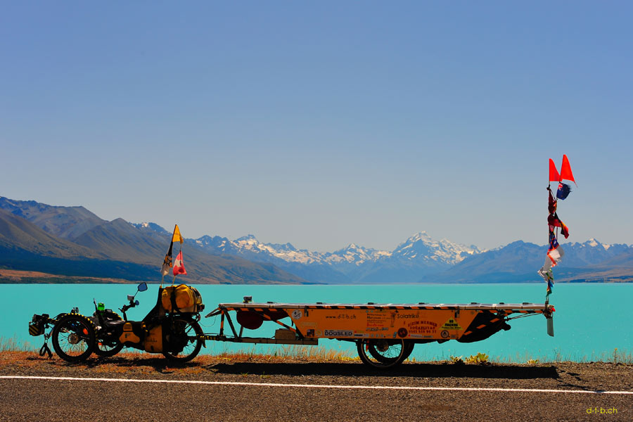 Solatrike bei Lake Pukaki