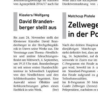 Zeitungsartikel,Ausstellung,David Brandenberger,d-t-b.ch,