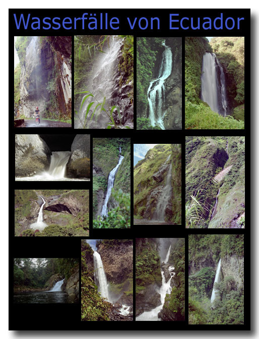 Wasserfälle in Ecuador / Waterfalls of Ecuador