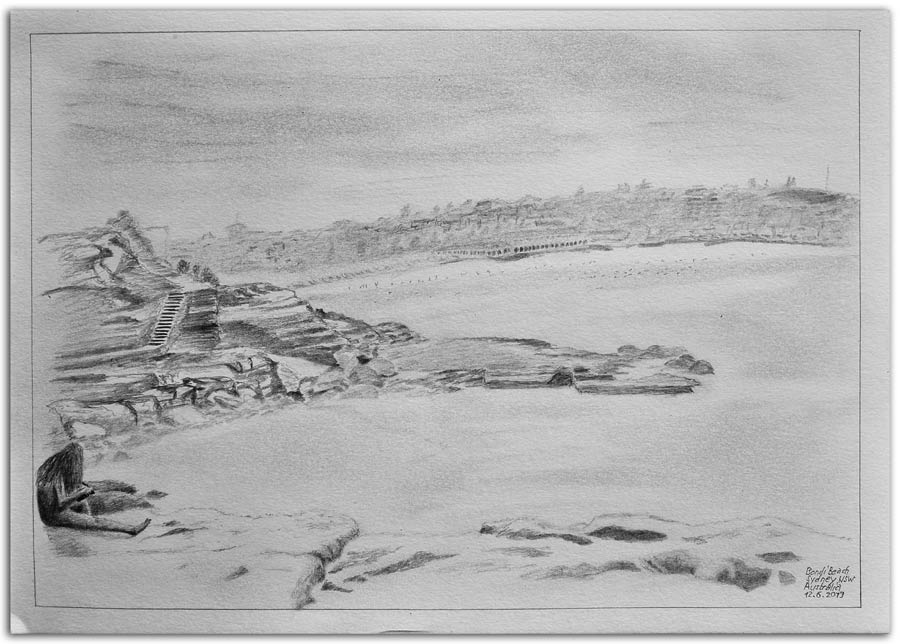 Sketch Bondi Beach