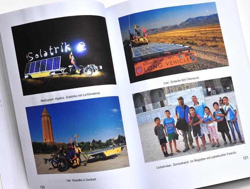 Solatrike Das Buch - Probeseite Doppelseite mit Farbfotos