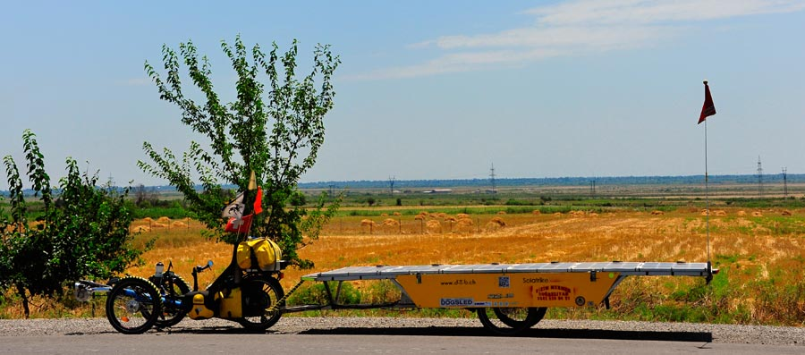 AZ: Solatrike unterwegs in Azerbaijan