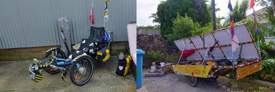 NZ: Solatrike in Takaka bei Gazebo Backpackers