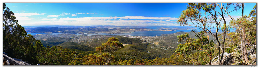 AU1288.Hobart view from Mt.Wellington