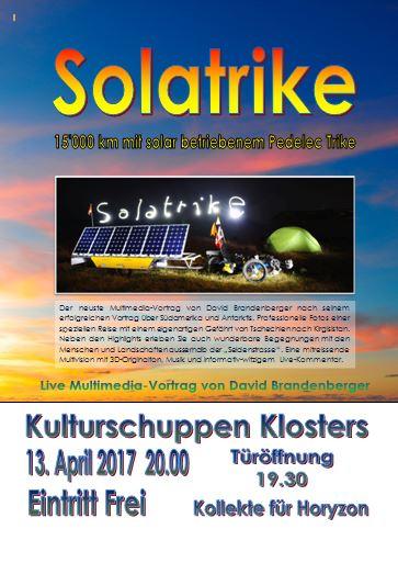 Solatrike - Vortrag in Klosters, Schweiz