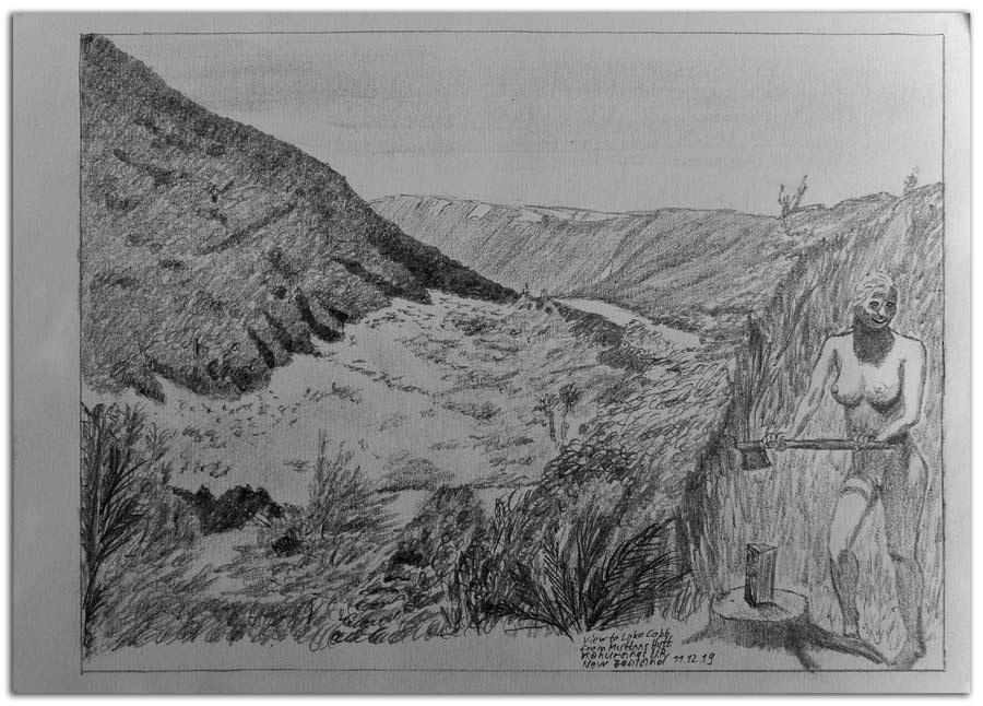 Skizze bei Myttons Hut