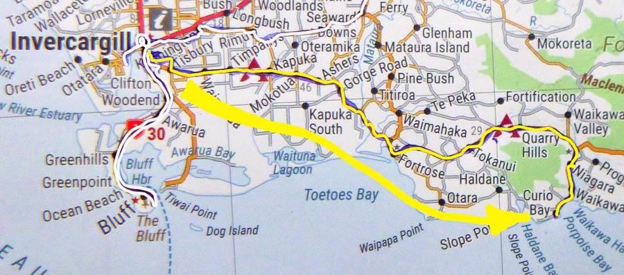 Tag 527: Invercargill - Curio Bay