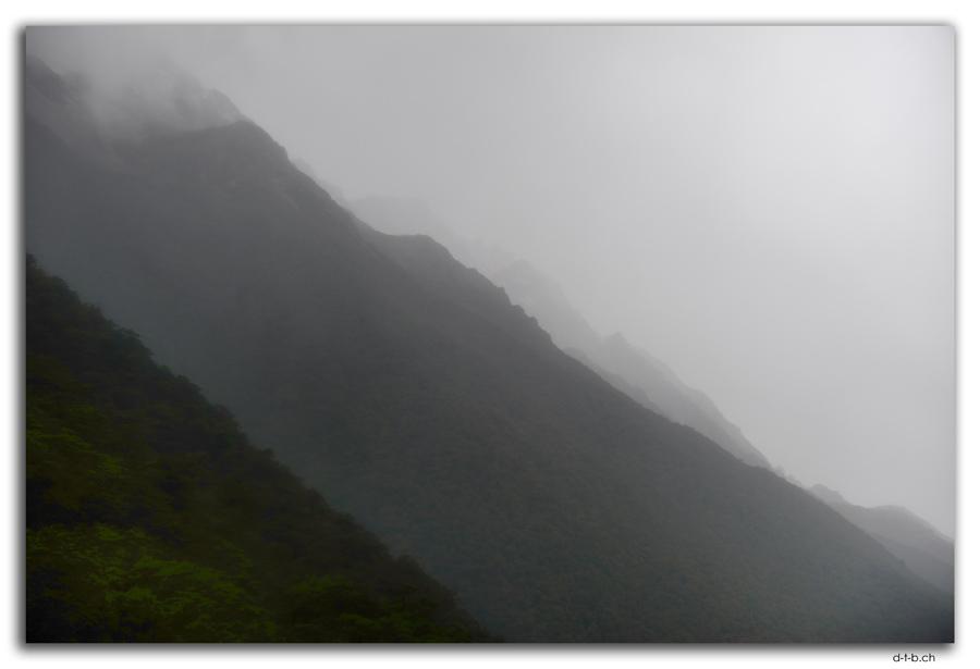 Travers Range in Fog