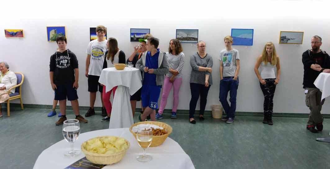 Publikum an der Vernissage Ausstellung,Hochgebirgsklinik Davos Wolfgang