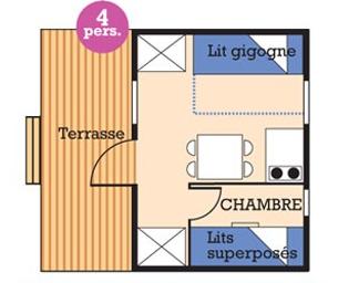 Plan d'un mini-chalet Isabelle