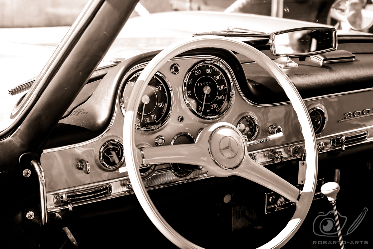 Rossfeldrennen 2018 - Mercedes 300 SL Coupe Cockpit